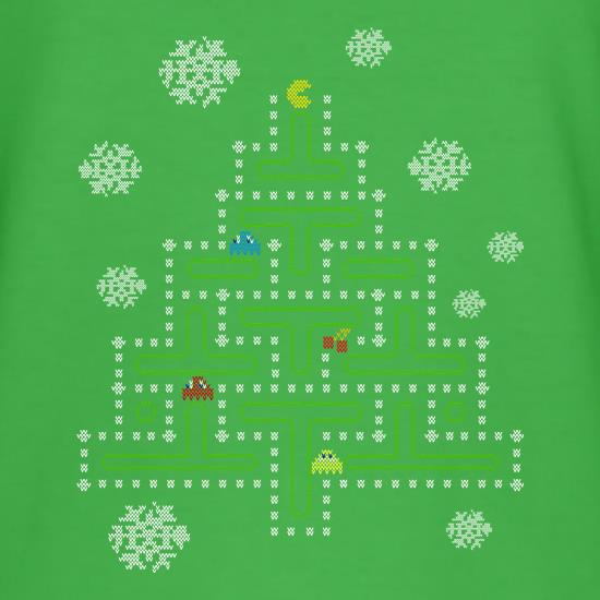 Pac Man Xmas Tree t shirt
