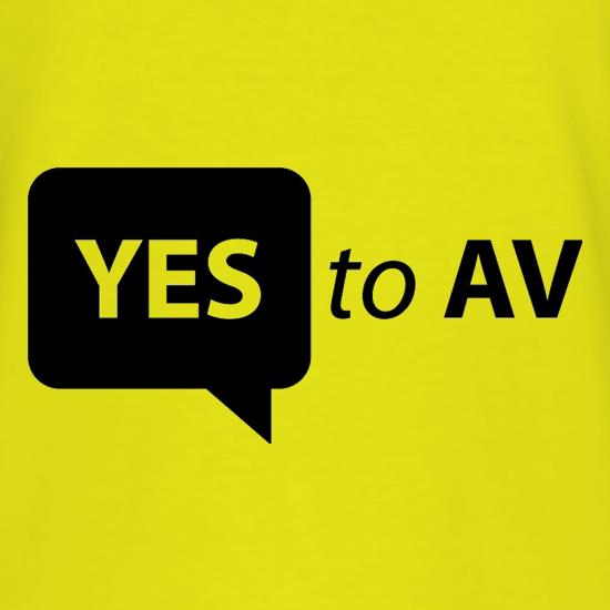 Yes To AV t shirt
