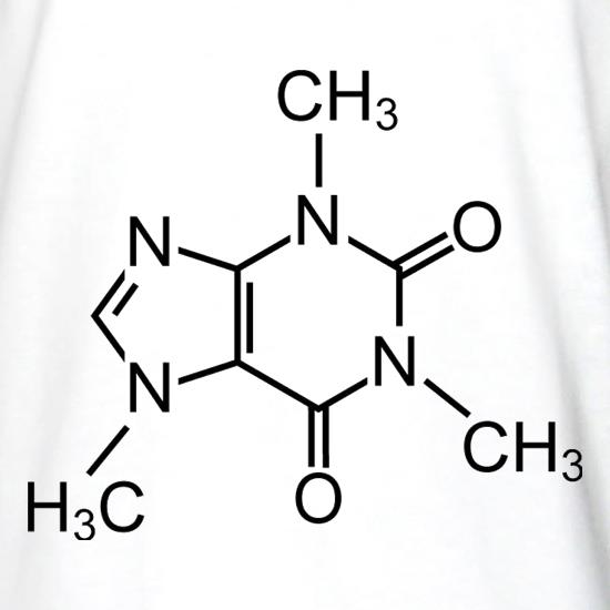 Caffeine Symbol Long Sleeve T Shirt By Chargrilled