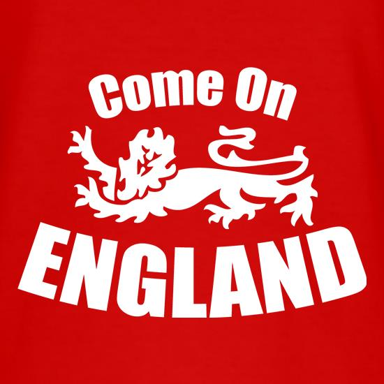 Come On England t shirt
