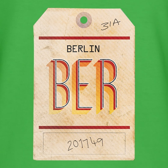 Berlin Luggage Tag t shirt