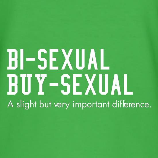 bisexual buysexual a slight but very important difference t shirt