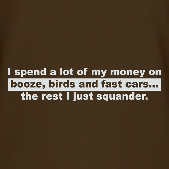 Booze Birds And Fast Cars t shirt