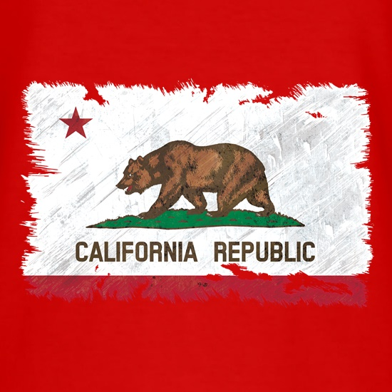California Republic Flag t shirt