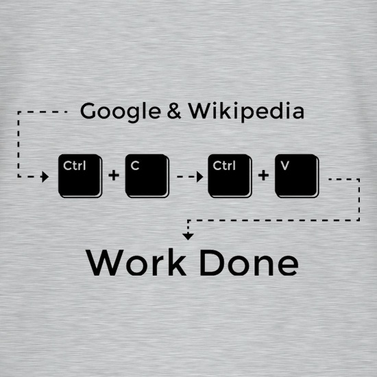 Ctrl C And Ctrl V Equals Work Done t shirt