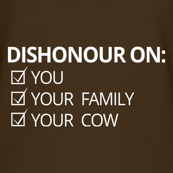 Dishonour On... t shirt