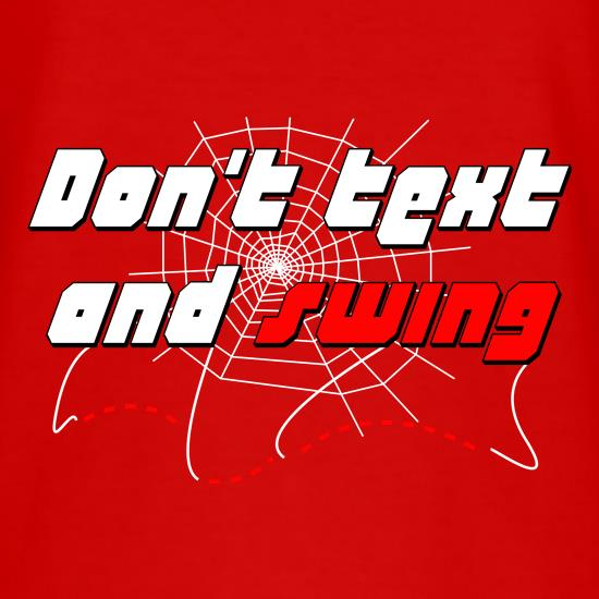 Don't Text and Swing t shirt