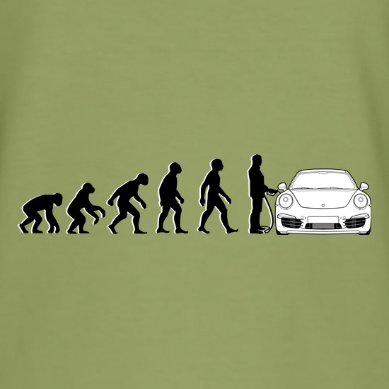Evolution Of Man 911 Driver t shirt