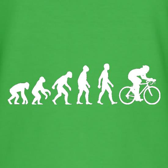 Evolution of Man Cycling t shirt