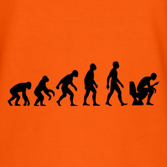 Evolution of Man Toilet Phone t shirt