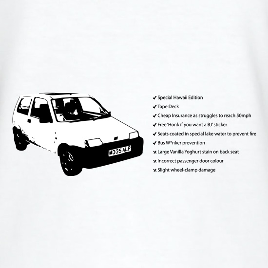 Fiat Inbetweeners t shirt