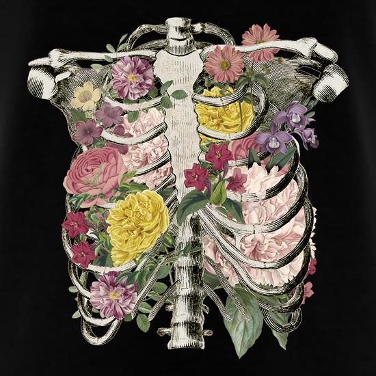 Floral Skeleton t shirt
