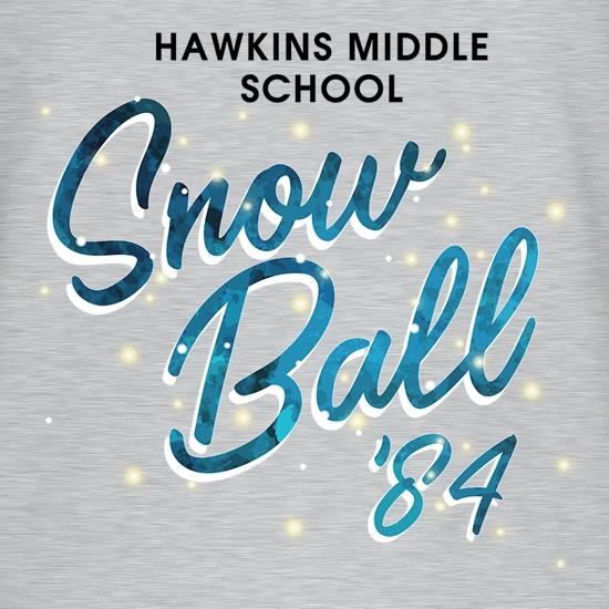 Hawkins Middle School Snow Ball '84 t shirt