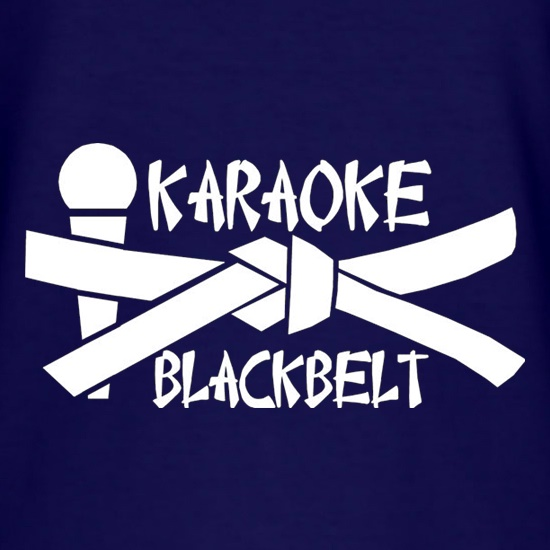 Karaoke Blackbelt t shirt