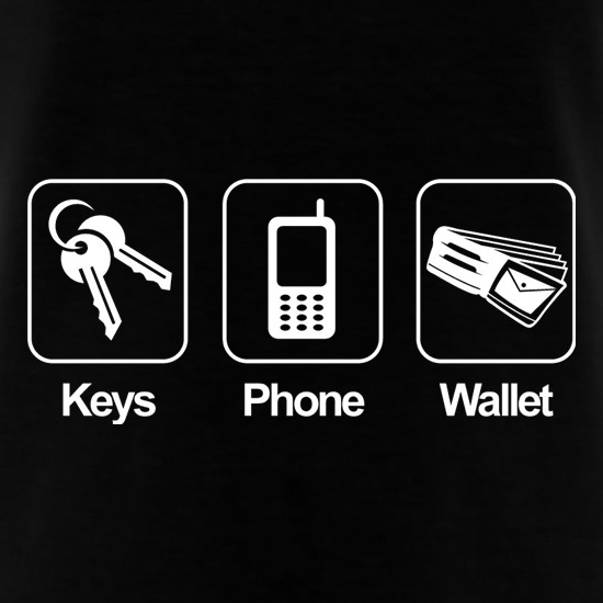 Keys Phone Wallet t shirt