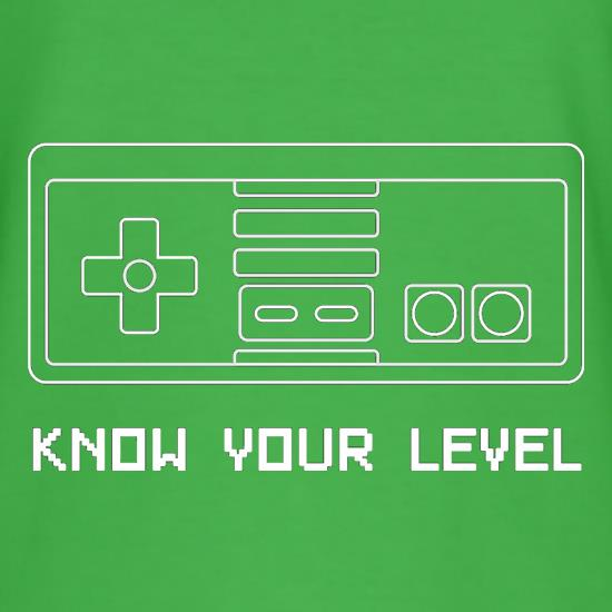 Know Your Level t shirt
