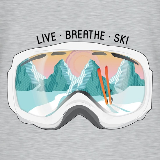 Live. Breathe. Ski. t shirt