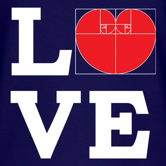 Love Golden Ratio t shirt