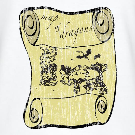 Map of Dragons t shirt