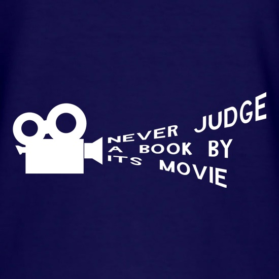 never judge a book by it's movie t shirt