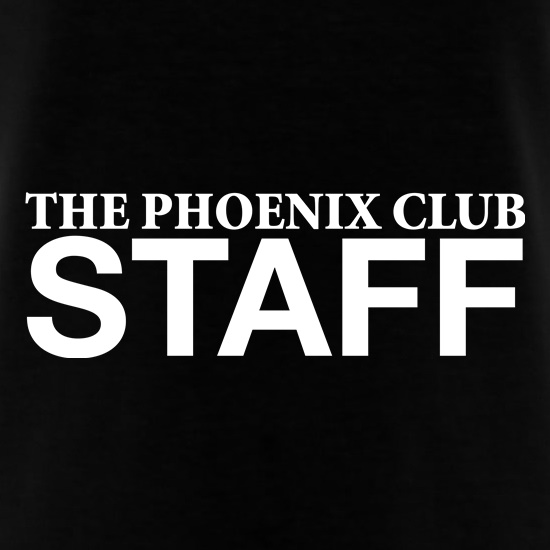 The Phoenix Club staff t shirt