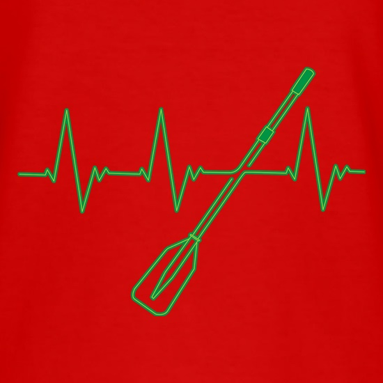Rowing Heartbeat t shirt