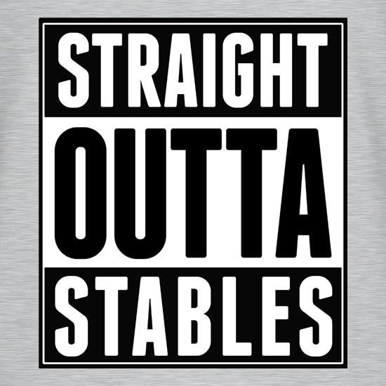 Straight Outta Stables t shirt