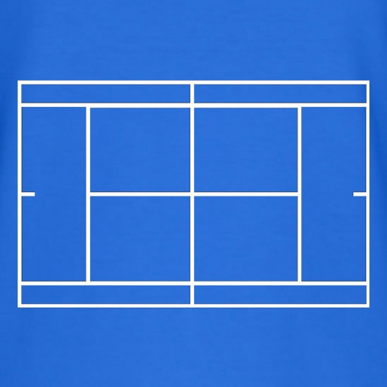 Tennis Court t shirt