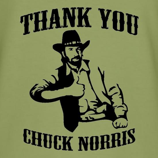 6bf91c841 Thank you Chuck Norris t shirt ...