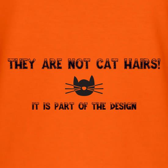 They are NOT Cat hairs, it is part of the design t shirt