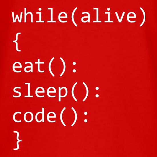 While (Alive) Code t shirt