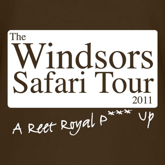 The Windsors Safari Tour 2011 t shirt