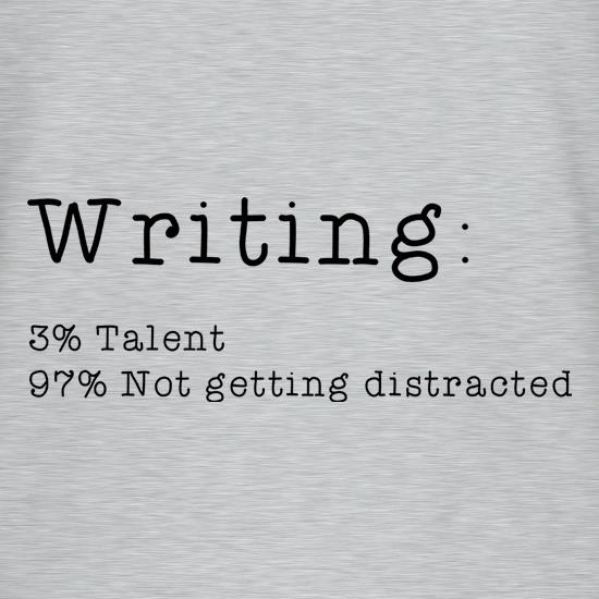 Writing : 3 Percent Talent t shirt