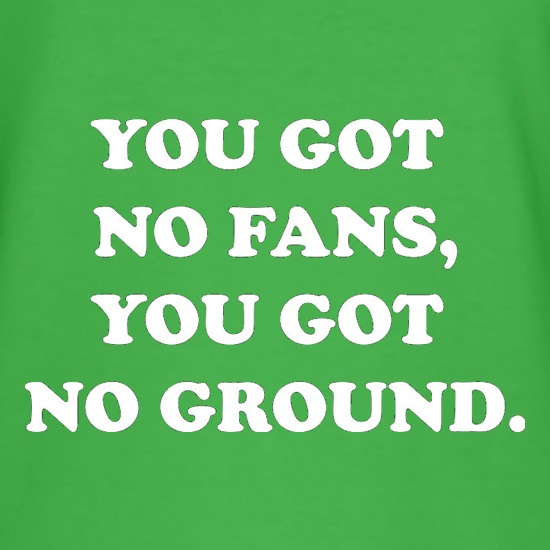 You Got No Fans, You Got No Ground t shirt
