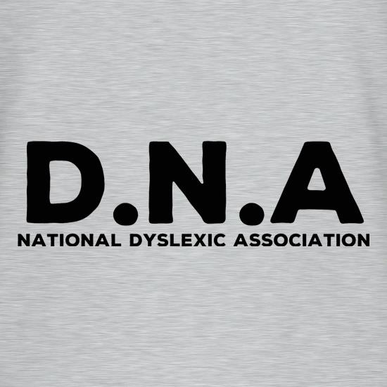 D.N.A National Dyslexic Association t shirt
