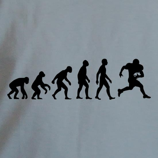 2352fda08e ... or a passing play, prove that you're the pinnacle of man when you're on  the pitch with our awesome Evolution of Man American Football t-shirt.